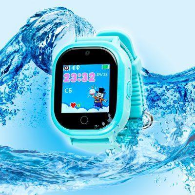 Детские умные часы с GPS трекером TD05 Blue Водонепроницаемые