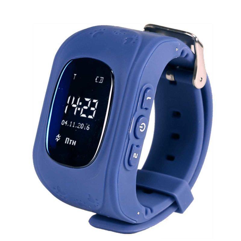 Дитячий розумний годинник з GPS трекером GW300 (Q50) Dark Blue