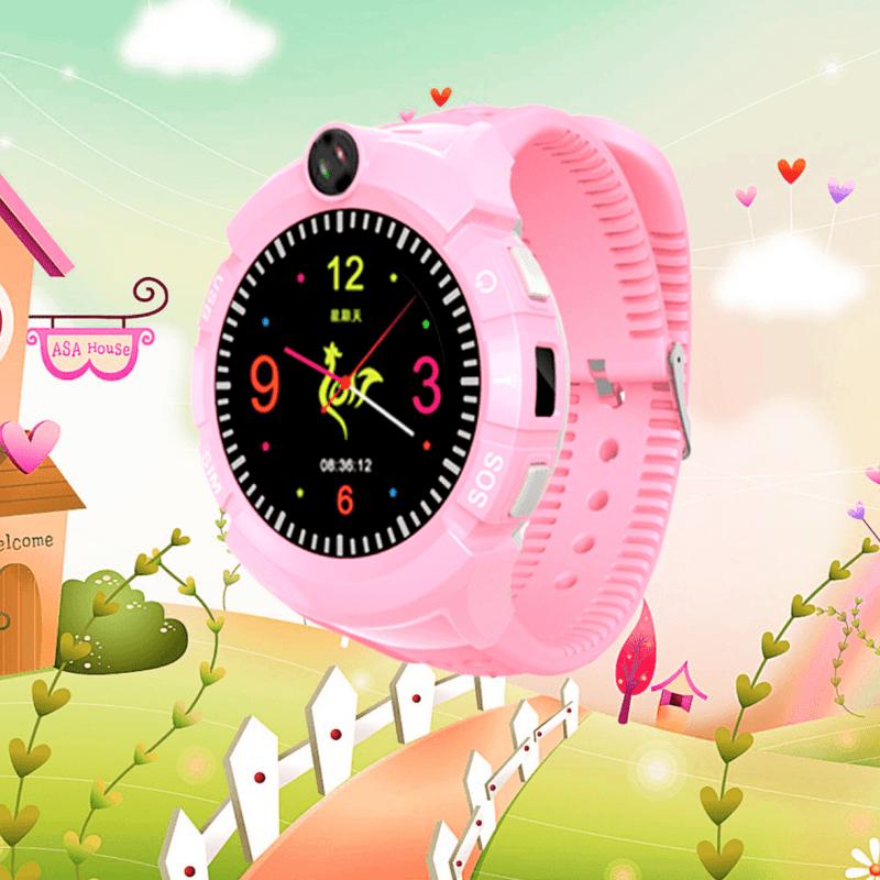 Дитячий розумний годинник з GPS трекером S-02 Pink