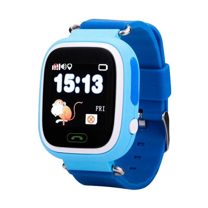 Дитячий розумний годинник з GPS трекером TD-02 (Q100) Blue - «XoKo» 0ff95d332a67d