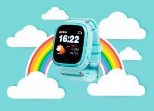Детские умные часы с GPS трекером TD-02s Водонепроницаемые Pink