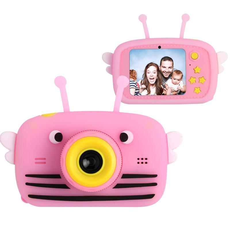 Цифровой детский фотоаппарат XOKO KVR-100 Bee Dual Lens Розовый