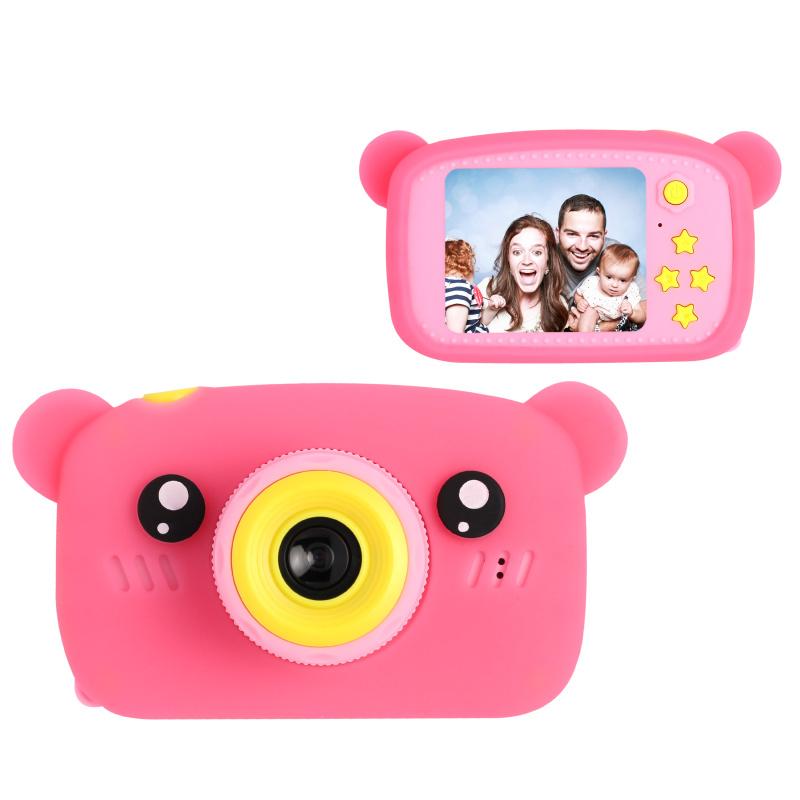 Цифровой детский фотоаппарат XOKO KVR-005 Bear Розовый