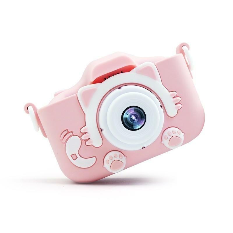 Силіконовий чохол і ремінець для цифрового дитячого фотоапарата XOKO KVR-001 рожевий