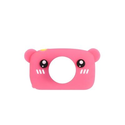 Силіконовий чохол для цифрового дитячого фотоапарата XOKO KVR-005/010/100 Bear Рожевий