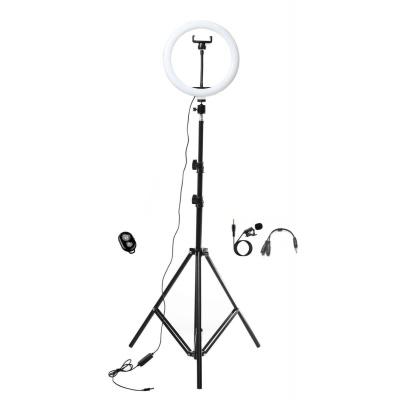 Набор блогера XOKO BS-200 + микрофон + пульт ДУ, LED 26 см