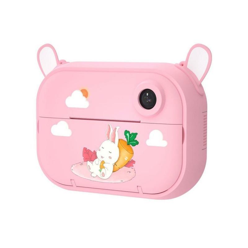 Цифровой детский фотоаппарат-принтер XOKO KVR-1500 Розовый Зайка