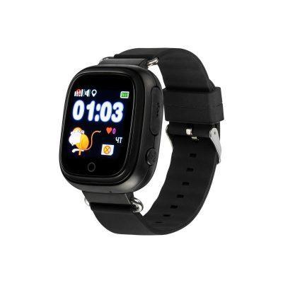 Детские смарт-часы с GPS трекером TD-02S водонепроницаемые Черные