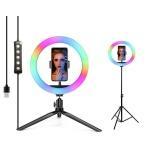 Набор блогера 2в1 XOKO BS-610 (стойка 160 см с RGB LED-лампой 26 см, штатив 19 см настольний)