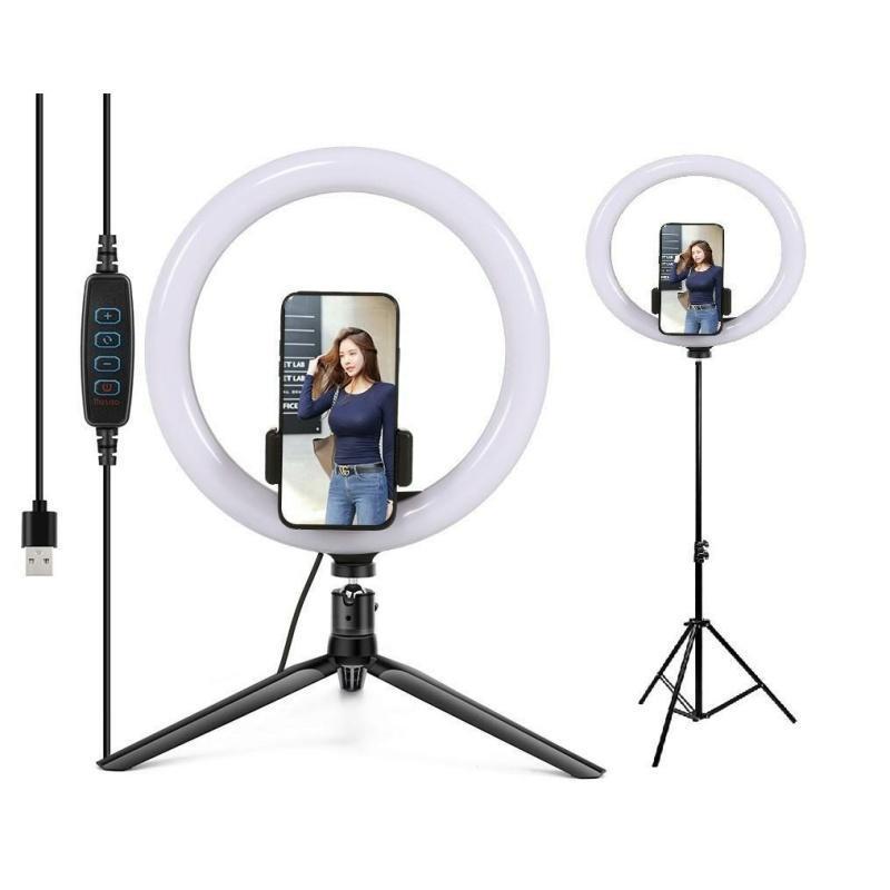 Набор блогера 2в1 XOKO BS-210 (стойка 160 см с LED-лампой 26 см, штатив 19 см настольний)