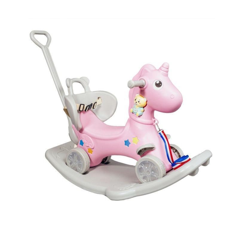 Єдиноріг гойдалка - каталка XOKO Play Pen RHO2 5 в 1 Pink (RHO2-PN)