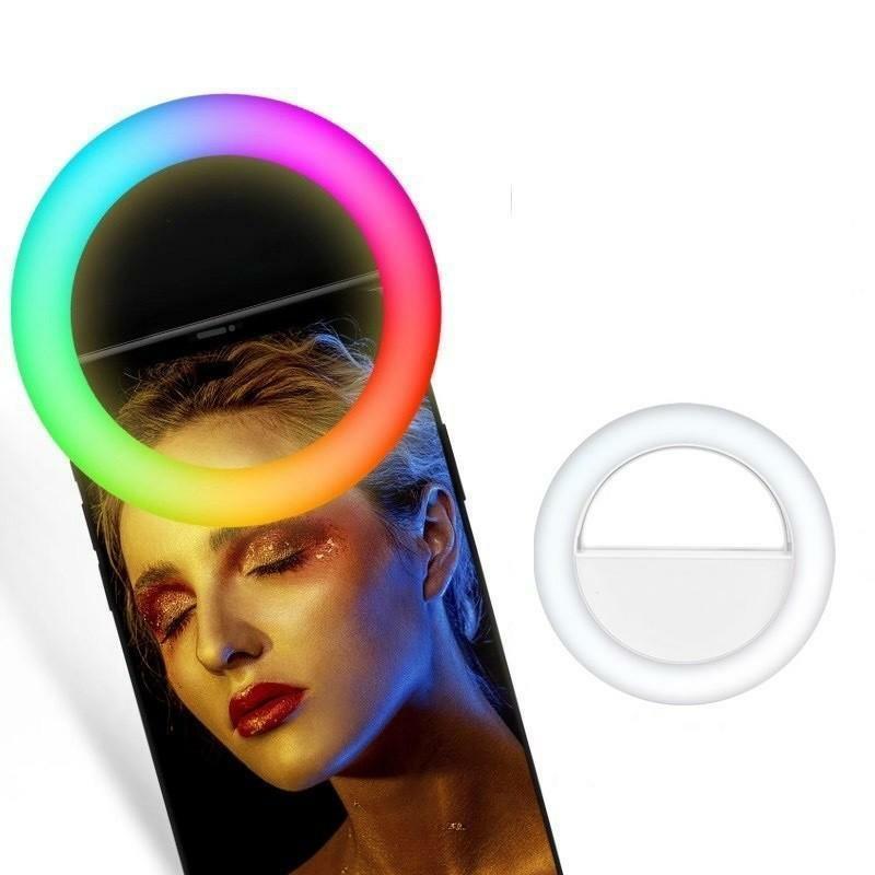 RGB Селфи кольцо XOKO BS-007U White RGB LED 9см