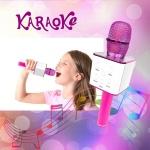 Бездротовий Караоке-Мікрофон Optima Wster MK-5 Pink