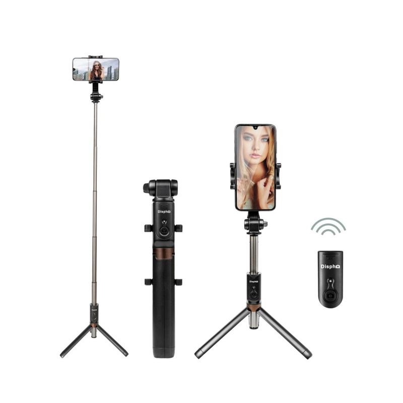 Трипод Dispho WS-18002 Selfie Stick Tripod Bluetooth Black