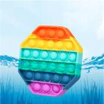 Іграшка антистрес Sibelly Pop It Rainbow Octagon