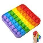 Игрушка антистресс Sibelly Pop It Rainbow Square