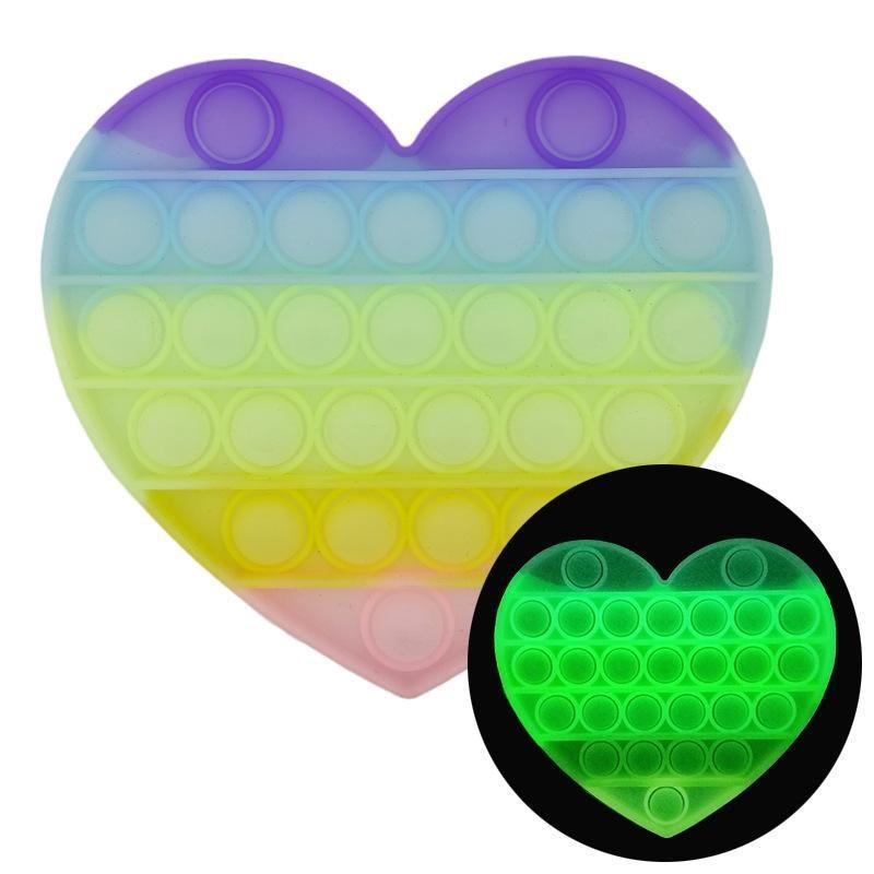 Іграшка антистрес Sibelly Pop It Heart Glow in Dark