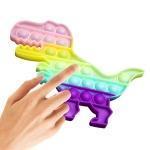 Набір 2 в 1 :Іграшка антистрес Sibelly Pop It Дінозавр Glow in Dark + Mono Коло Orange